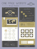 Elegant one page website template design Royalty Free Stock Photo