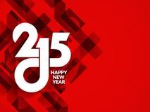 Elegant ontwerp als achtergrond voor gelukkig nieuw jaar 2015 Stock Foto's