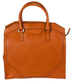 Elegant orange bag Royalty Free Stock Photos