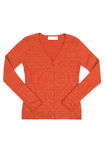 Elegant orange jumper  on a white. Stock Image