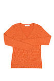 Elegant orange jumper  on a white. Stock Photos