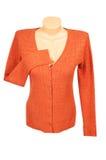 Elegant orange jumper  on a white. Stock Images