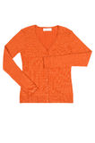 Elegant orange jumper  on a white. Royalty Free Stock Photos