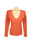 Elegant orange tunic  on a white. Royalty Free Stock Photography