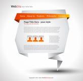 elegant origamiwebsite för design Royaltyfria Bilder