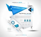 elegant origamiwebsite för design Royaltyfri Fotografi