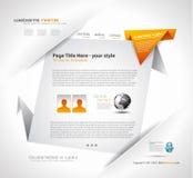 elegant origamiwebsite för design Arkivfoto