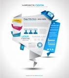 elegant origamiwebsite för design Arkivbild