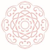 Elegant Ornament in Classic Style. Abstract traditional pattern with oriental elements. Classic round pink vintage pattern vector illustration