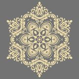 Elegant Ornament in Classic Style. Abstract traditional round golden pattern with oriental elements. Classic vintage pattern vector illustration