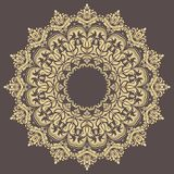 Elegant Ornament in Classic Style. Abstract traditional round golden pattern with oriental elements. Classic vintage pattern stock illustration