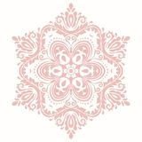 Elegant Ornament in Classic Style. Elegant pink ornament in classic style. Abstract traditional pattern with oriental elements. Classic vintage pattern stock image