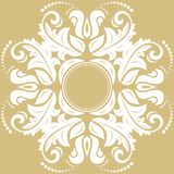 Elegant Ornament in Classic Style. Elegant white ornament in classic style. Abstract traditional pattern with oriental elements, Classic vintage pattern royalty free stock photography