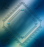 Elegant ornament frame design resource Royalty Free Stock Image