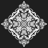 Elegant Ornament in the Style of Barogue. Abstract traditional pattern with oriental elements. Black and white pattern Royalty Free Stock Photography
