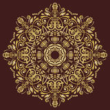 Elegant Ornament in the Style of Barogue. Abstract traditional pattern with oriental elements. brown and golden pattern Royalty Free Stock Images