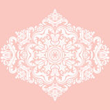Elegant Ornament in the Style of Barogue. Abstract traditional pattern with oriental elements. Pink and white pattern Royalty Free Stock Image