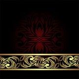 Elegant ornamental Backgound with golden floral Border Royalty Free Stock Image