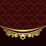 Elegant ornamental Background with golden  floral Border Royalty Free Stock Images