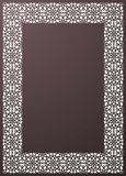 Elegant ornamental rectangle frame with lace pattern for laser c. Utting or wood carving. Template for interior design, decorative art objects etc Stock Photography