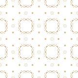 Elegant ornamental seamless pattern with small geometric shapes, diamonds, triangles, curved figures. Vector golden background. Elegant ornamental seamless Stock Image