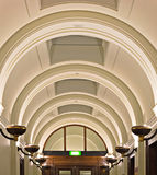 Elegant ornate arched ceiling Royalty Free Stock Photography