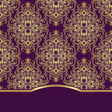 Elegant ornate Background with border for Invitation design. Stock Photography