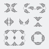 Elegant ornate floral design templates. Lineart vector frames and monograms illustration. Ornate frame and scroll Royalty Free Stock Photo