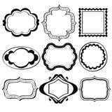 Elegant Ornate frames. Different kinds of elegant ornate frames in line art style. It contains hi-res JPG, PDF and Illustrator 9 files Royalty Free Stock Photography