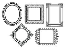 Elegant Ornate frames Stock Photo