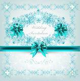 Elegant ornate vector wedding invitation vector illustration