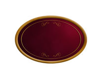 Elegant oval frame stock images