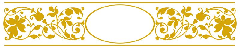 Elegant oval frame vector illustration