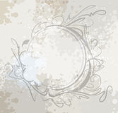 Elegant oval frame. Stock Photo