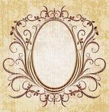 Elegant oval frame Stock Images