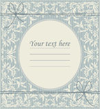 Elegant oval frame with vintage ornament Royalty Free Stock Photo