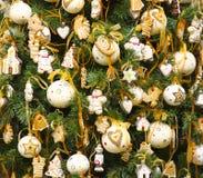 elegant pälstree för jul Arkivfoton