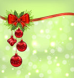 Elegant packing with Christmas balls Royalty Free Stock Images