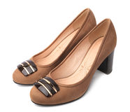 Elegant pair of woman's shoes Royalty Free Stock Image