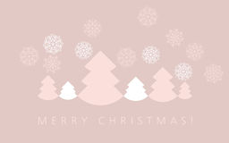 Elegant pale color christmas background. Royalty Free Stock Images
