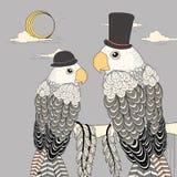 Elegant parrots Stock Photography