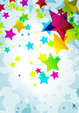Elegant party background with colorful stars Stock Photo