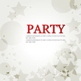 Elegant party background with stars Stock Photography