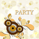 Elegant party background with stars Stock Images