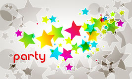 Elegant party background with stars Stock Image