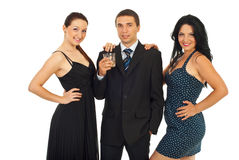 Elegant party people Royalty Free Stock Image