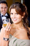 Elegant party woman Stock Images