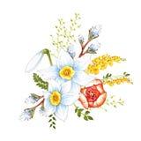 Elegant Pasen-de kaartontwerp van de daggroet met bloesemsbloemen royalty-vrije stock foto