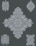 Elegant patroon op zwarte Stock Foto's