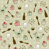 Cute holiday seamless pattern Royalty Free Stock Images